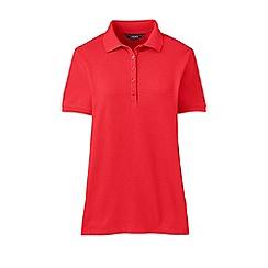 Lands' End - Orange plus short sleeve pique polo shirt