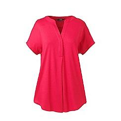 Lands' End - Pink slub jersey dolman sleeve t-shirt