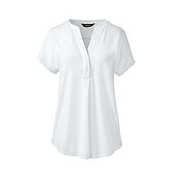 Lands' End - White slub jersey dolman sleeve t-shirt