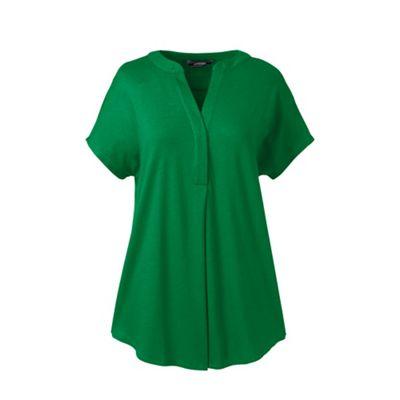 Lands End Green Regular Slub Jersey Dolman Sleeves Top Debenhams