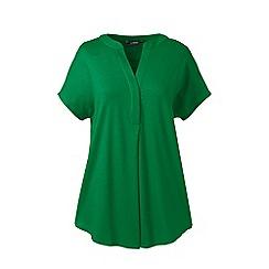 Lands' End - Green regular slub jersey dolman sleeves top