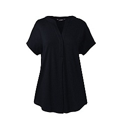Lands' End - Black petite slub jersey dolman sleeve t-shirt