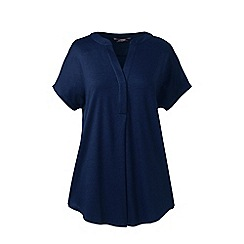 Lands' End - Blue petite slub jersey dolman sleeve t-shirt