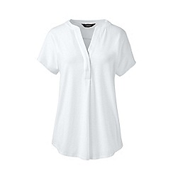 Lands' End - White petite slub jersey dolman sleeve t-shirt
