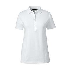 Lands' End - White short sleeve pima polo