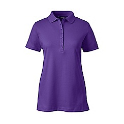 Lands' End - Purple petite short sleeve pima polo
