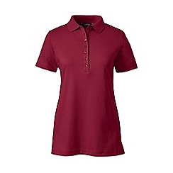 Lands' End - Red petite short sleeves pima polo