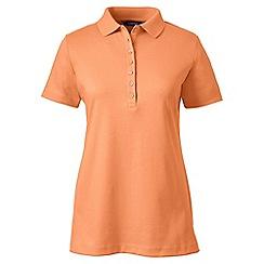 Lands' End - Orange petite short sleeve pima polo