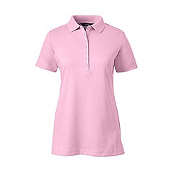 Lands' End - Pink petite short sleeve pima polo