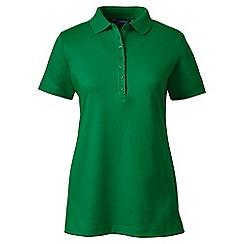 Lands' End - Green petite short sleeve pima polo