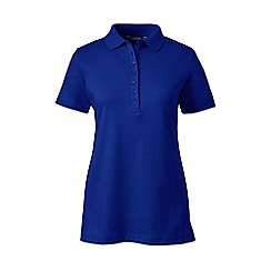 Lands' End - Blue petite short sleeve pima polo