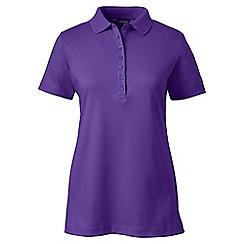 Lands' End - Purple short sleeve pima polo