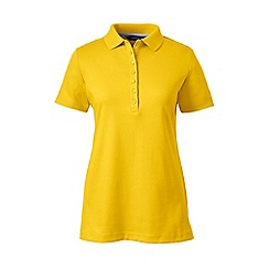 Lands' End - Yellow tall short sleeves pima polo