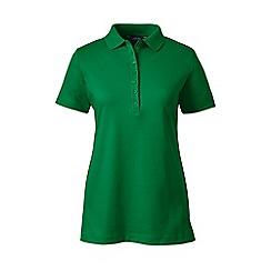 Lands' End - Green short sleeve pima polo
