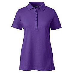 Lands' End - Purple plus short sleeve pima polo