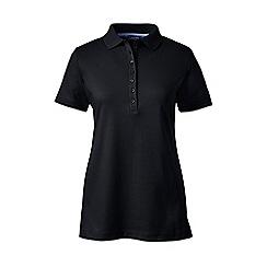 Lands' End - Black plus short sleeve pima polo