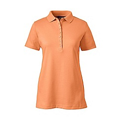 Lands' End - Orange plus short sleeve pima polo