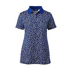 Lands' End - Purple petite print pima polo shirt