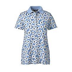 Lands' End - Blue plus print pima polo shirt