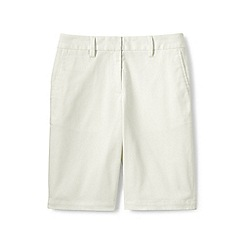 Lands' End - White plus classic chino bermuda shorts