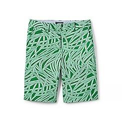 Lands' End - Green regular print chino shorts