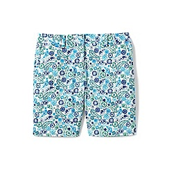 Lands' End - Blue 7'' print chino shorts