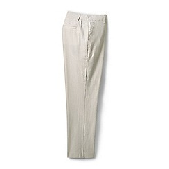 Lands' End - Beige petite seersucker crop trousers