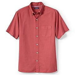 Lands' End - Pink regular short sleeve sail rigger oxford shirt