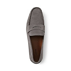 Lands' End - Grey penny loafer driving shoes