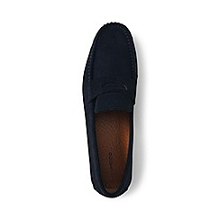 Lands' End - Blue penny loafer driving shoes
