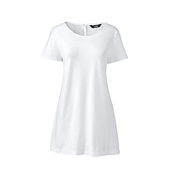 Lands' End - White short sleeve cotton modal tunic