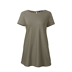 Lands' End - Green short sleeves cotton modal tunic