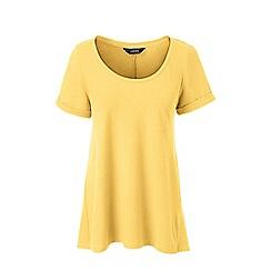 Lands' End - Yellow cotton modal scoop neck top