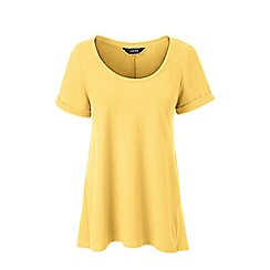 Lands' End - Yellow petite cotton modal scoop neck top