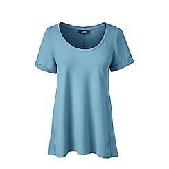 Lands' End - Blue petite cotton modal scoop neck top