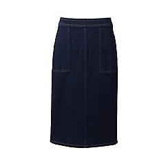 Lands' End - Blue plus stretch denim pencil skirt