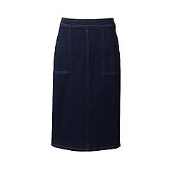 Lands' End - Blue plus stretch denim pencil skirt