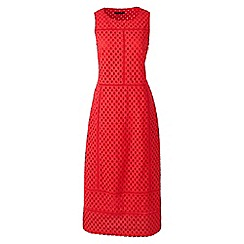 Lands' End - Orange broderie anglaise panelled dress