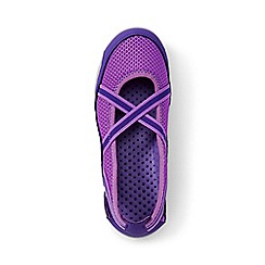 Lands' End - Girls' purple mary jane water shoes