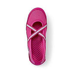 Lands' End - Girls' pink mary jane water shoes
