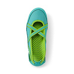 Lands' End - Girls' blue mary jane water shoes