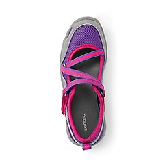 Lands' End - Girls' purple mary jane trekker shoes