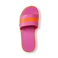 Lands' End - Kids' pink action slider sandals