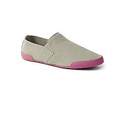 Lands' End - Grey regular stretch slip-on shoes