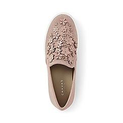 Lands' End - Pink regular embellished slip-on trainers