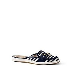 Lands' End - Blue regular buckle mules