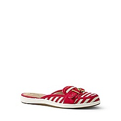 Lands' End - Red regular buckle mules
