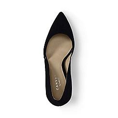 Lands' End - Black regular suede d'orsay court shoes