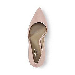 Lands' End - Pink regular suede d'orsay court shoes