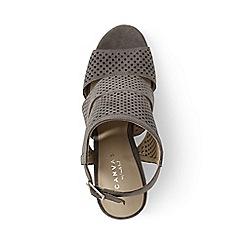Lands' End - Brown regular peep-toe block heel sandals